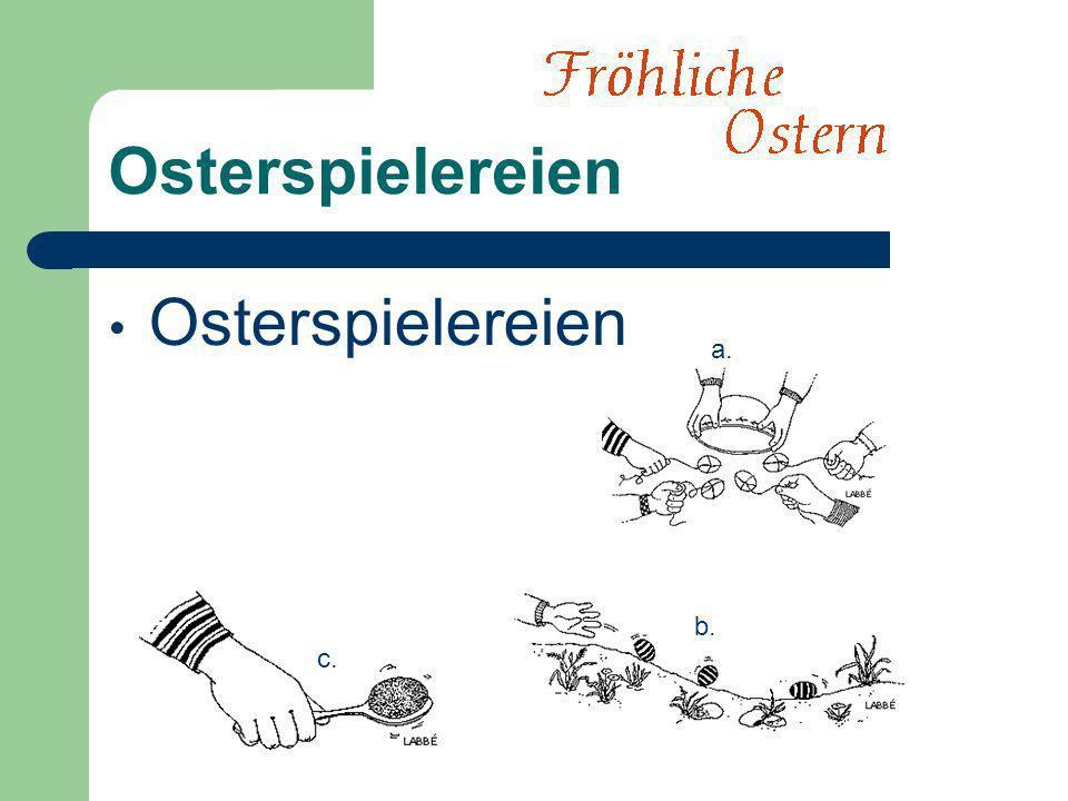 Osterspielereien a. b. c.