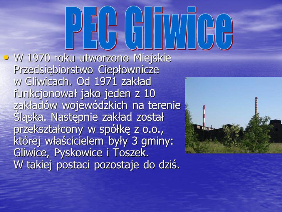 W 1970 roku utworzono Miejskie Przedsiębiorstwo Ciepłownicze w Gliwicach.