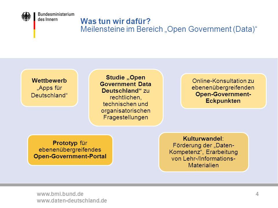 www.bmi.bund.de www.daten-deutschland.de 4 Was tun wir dafür.