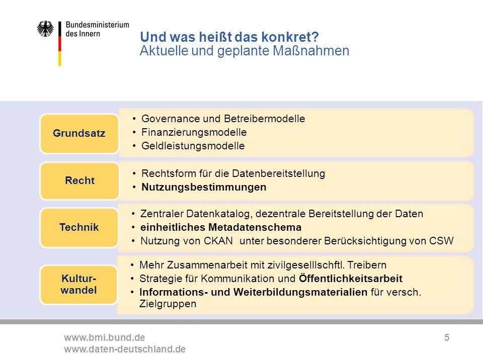 www.bmi.bund.de www.daten-deutschland.de 5 Und was heißt das konkret.