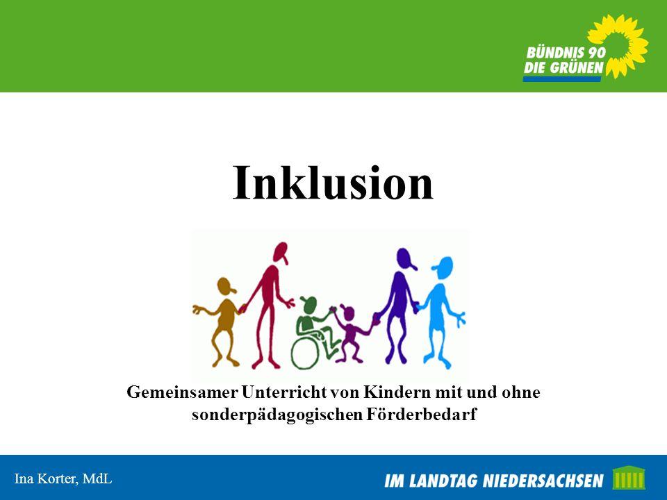 Gliederung I.Die UN-Konvention und was sie für Niedersachsen bedeutet II.Wo steht Deutschland bei der Inklusion.