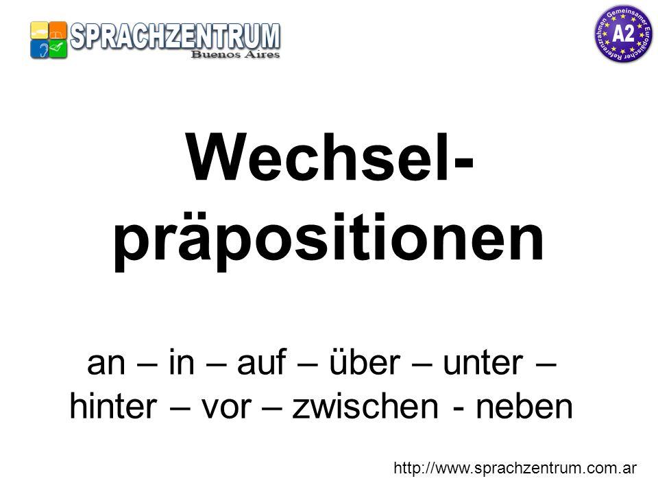 http://www.sprachzentrum.com.ar Akkusativ – Wohin? den Wohin stellen wir den Tisch. ?