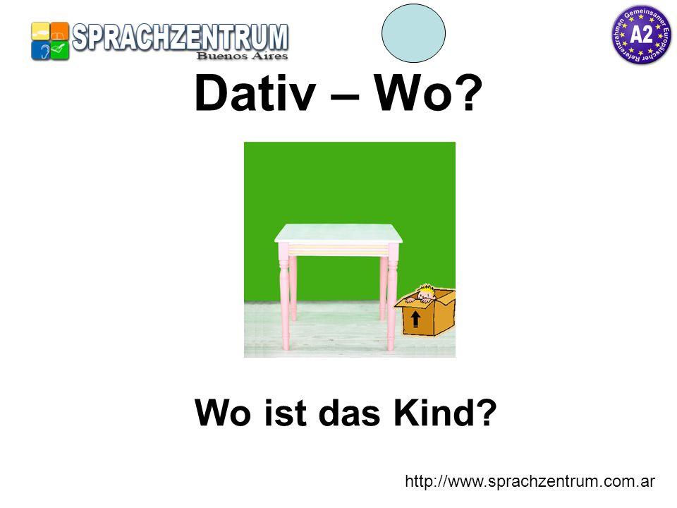 http://www.sprachzentrum.com.ar Dativ – Wo? Wo ist das Kind?