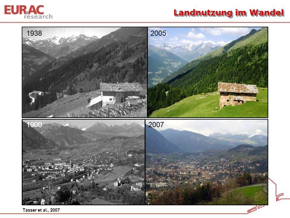 1938 2005 1900 2007 Tasser et al., 2007 Landnutzung im Wandel