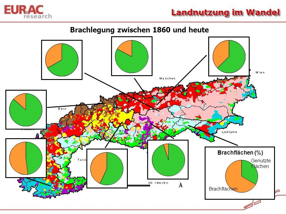 Tasser et al., 2007 genutzteused Sum ofabanonement(%) abandoned areas genutzteused Sum ofabanonement(%) abandoned areas genutzteGenutzte Flächen Brach