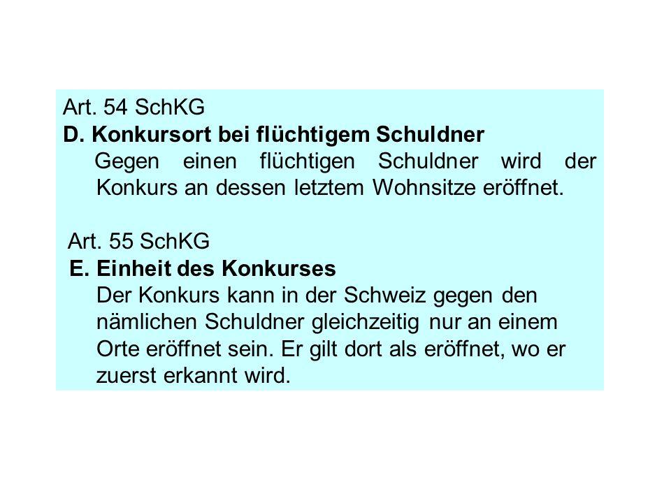 Art.54 SchKG D.