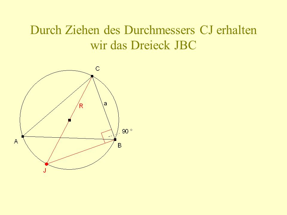 Um dies zu beweisen, benutzen wir, dass für Dreiecke mit gleicher Höhe