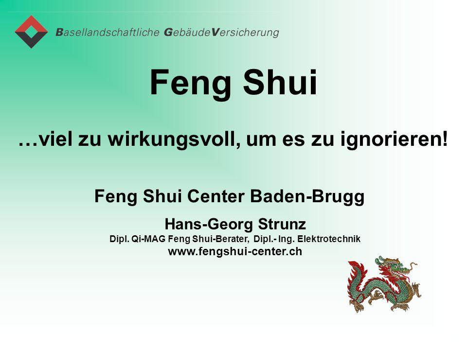 Feng Shui …viel zu wirkungsvoll, um es zu ignorieren! Hans-Georg Strunz Dipl. Qi-MAG Feng Shui-Berater, Dipl.- Ing. Elektrotechnik www.fengshui-center