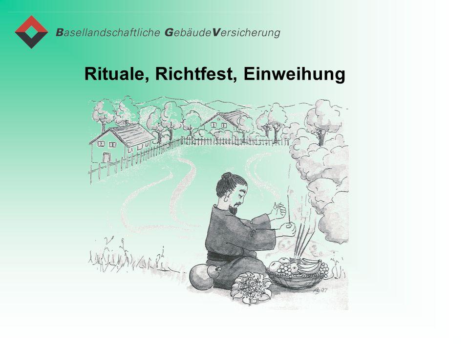 Rituale, Richtfest, Einweihung