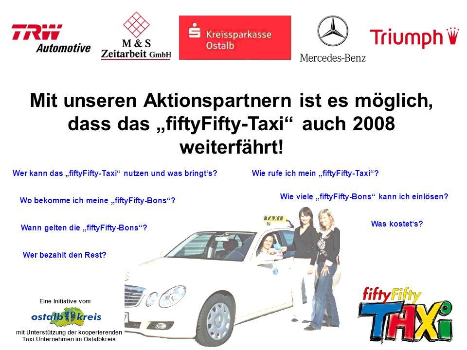 Die fiftyFifty-Bons mit einem Wert von je 10,00 können in den Toto-Lotto- Verkaufsstellen im Ostalbkreis zu einem Preis von 5,00 erworben werden.