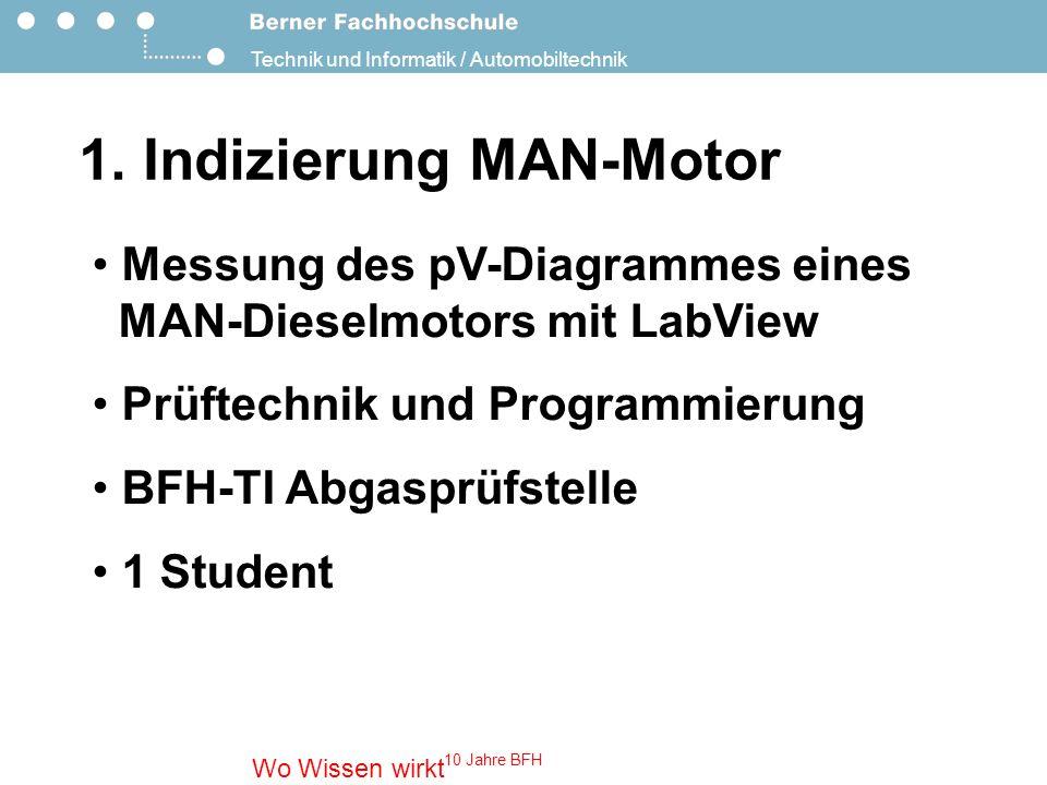 Technik und Informatik / Automobiltechnik Wo Wissen wirkt 10 Jahre BFH 2.