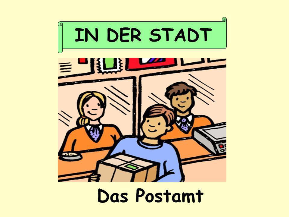 Das Postamt IN DER STADT