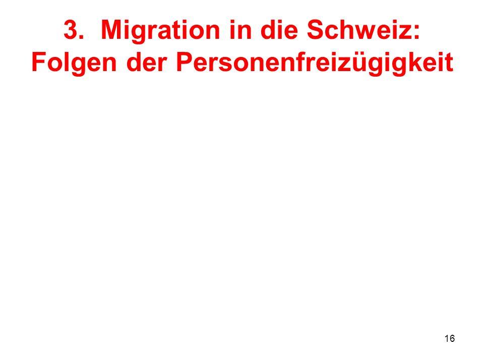 16 3. Migration in die Schweiz: Folgen der Personenfreizügigkeit