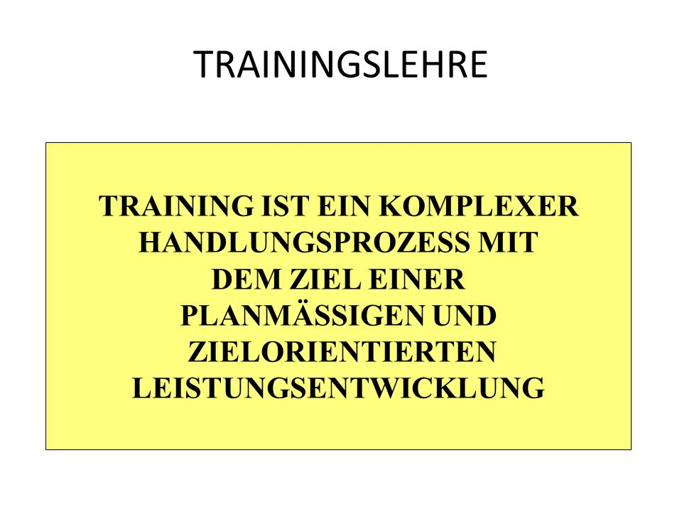 TRAININGSLEHRE ENTSPANNUNGS- METHODEN