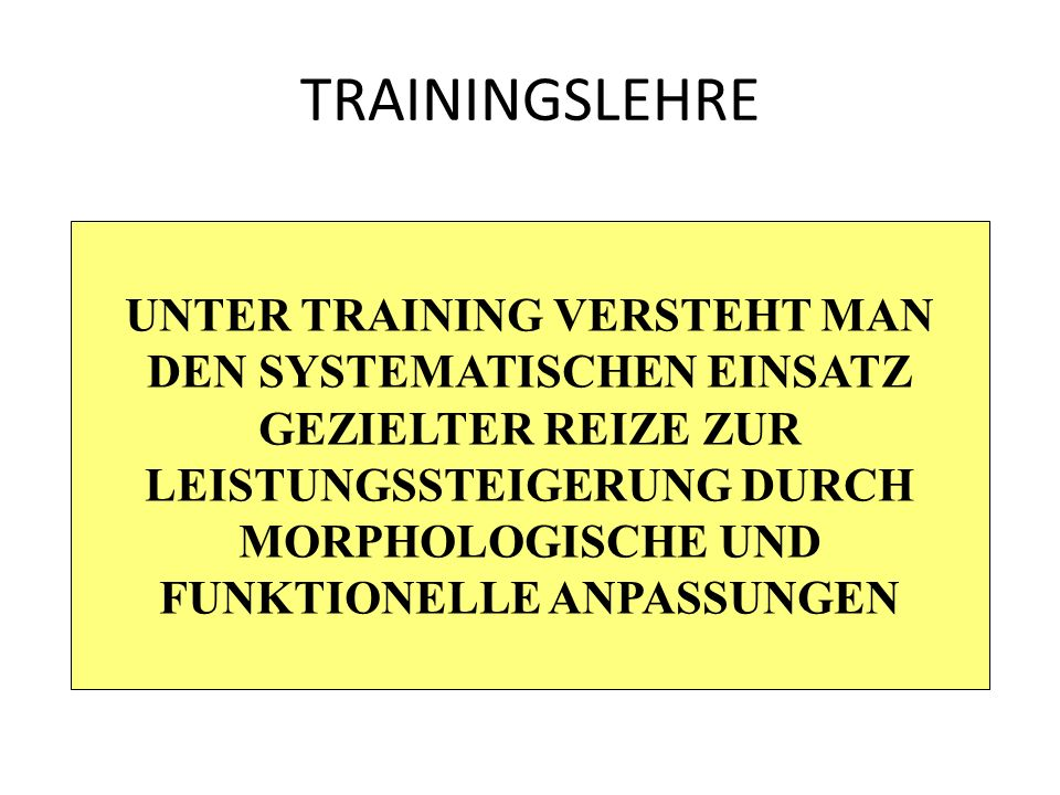 TRAININGSLEHRE REGENERATION AKTIVPASSIV
