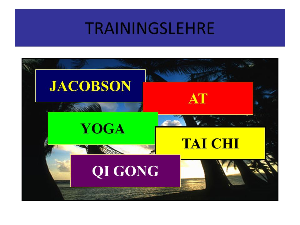 TRAININGSLEHRE JACOBSON AT YOGA TAI CHI QI GONG