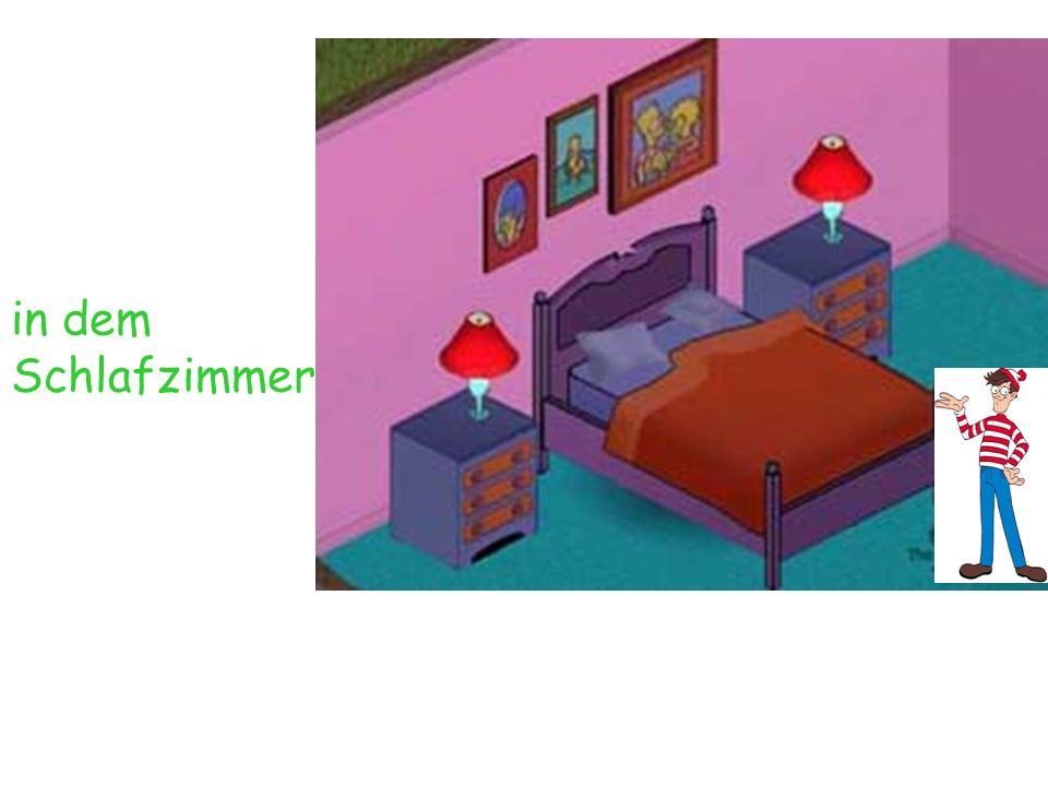in dem Schlafzimmer