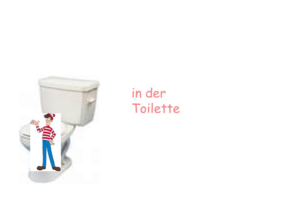 in der Toilette