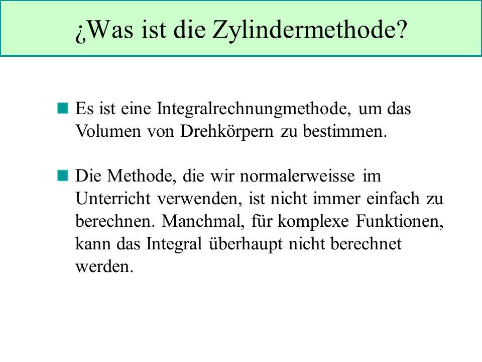 ¿Was ist die Zylindermethode.