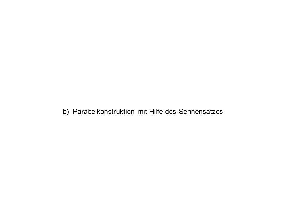 b) Parabelkonstruktion mit Hilfe des Sehnensatzes