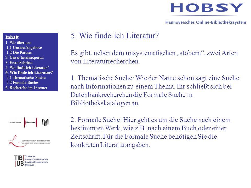 5. Wie finde ich Literatur.
