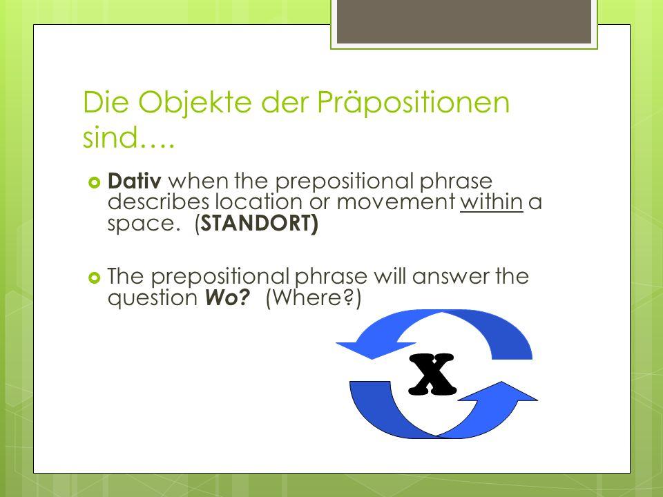 stecken and hängen stecken (to stick; insert) and hängen (to hang)can be used with both cases to describe… platzieren(accusative) und Standort(dative).