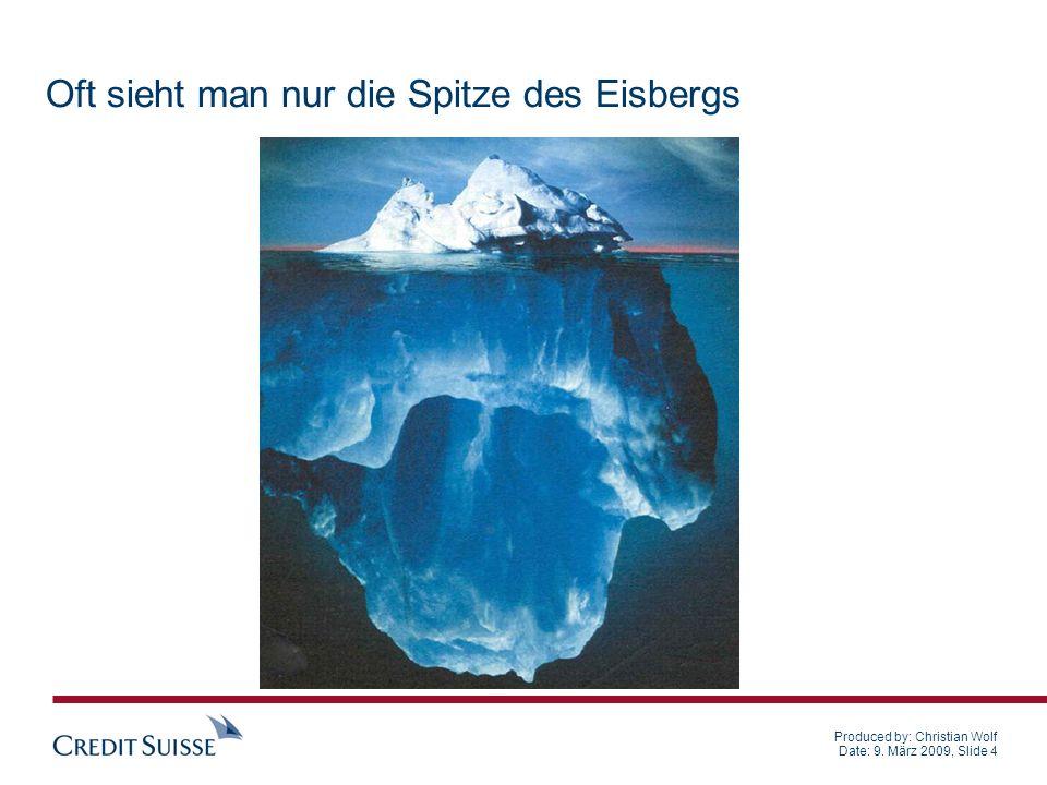 Produced by: Christian Wolf Date: 9.März 2009, Slide 15 Massnahmen 2.