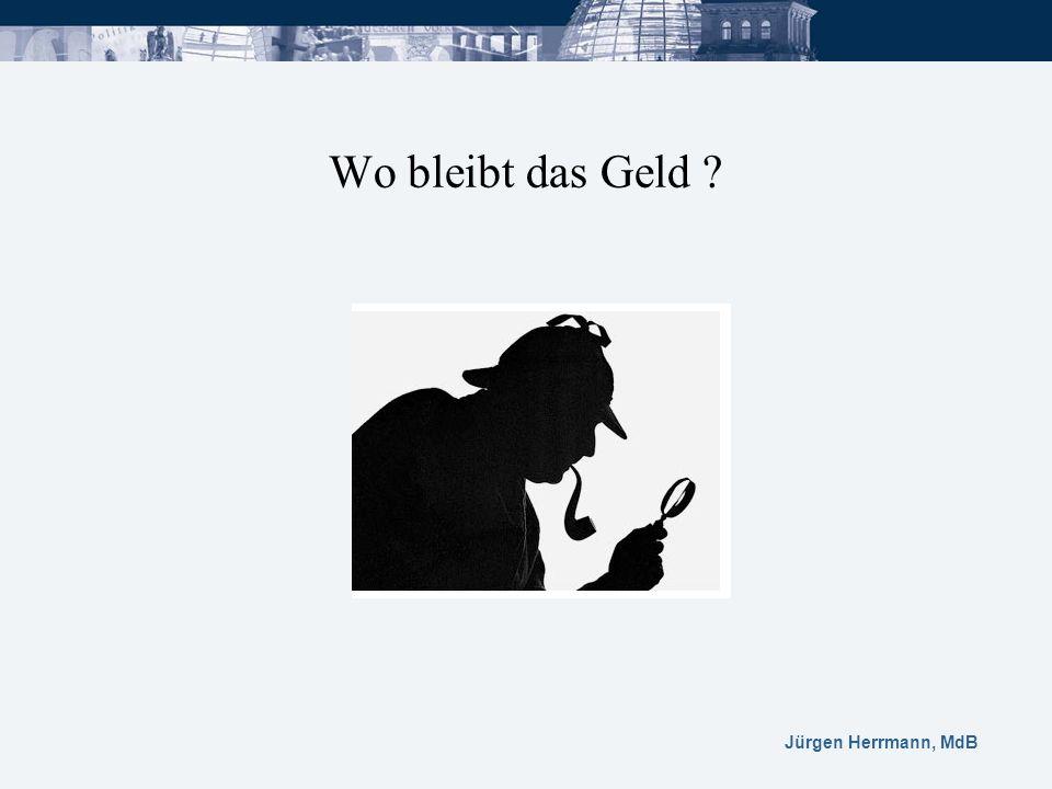 Jürgen Herrmann, MdB Wo bleibt das Geld ?