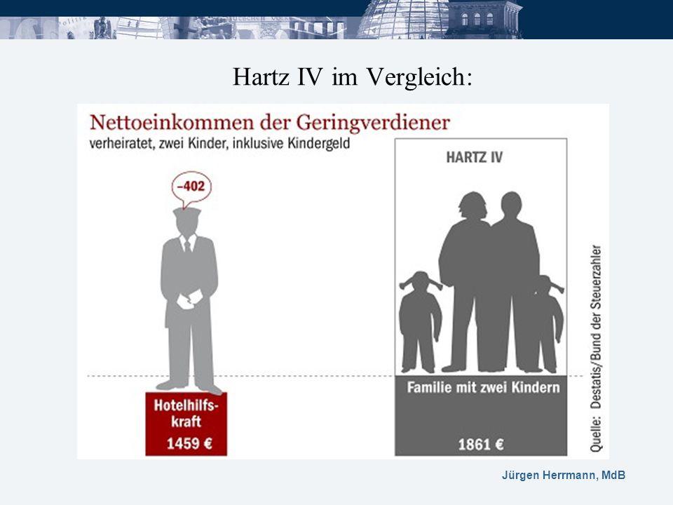 Jürgen Herrmann, MdB Hartz IV im Vergleich: