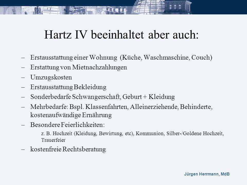 Jürgen Herrmann, MdB Erstausstattung einer Wohnung (Küche, Waschmaschine, Couch) Erstattung von Mietnachzahlungen Umzugskosten Erstausstattung Bekleid