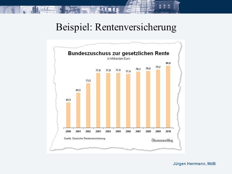 Jürgen Herrmann, MdB Beispiel: Rentenversicherung