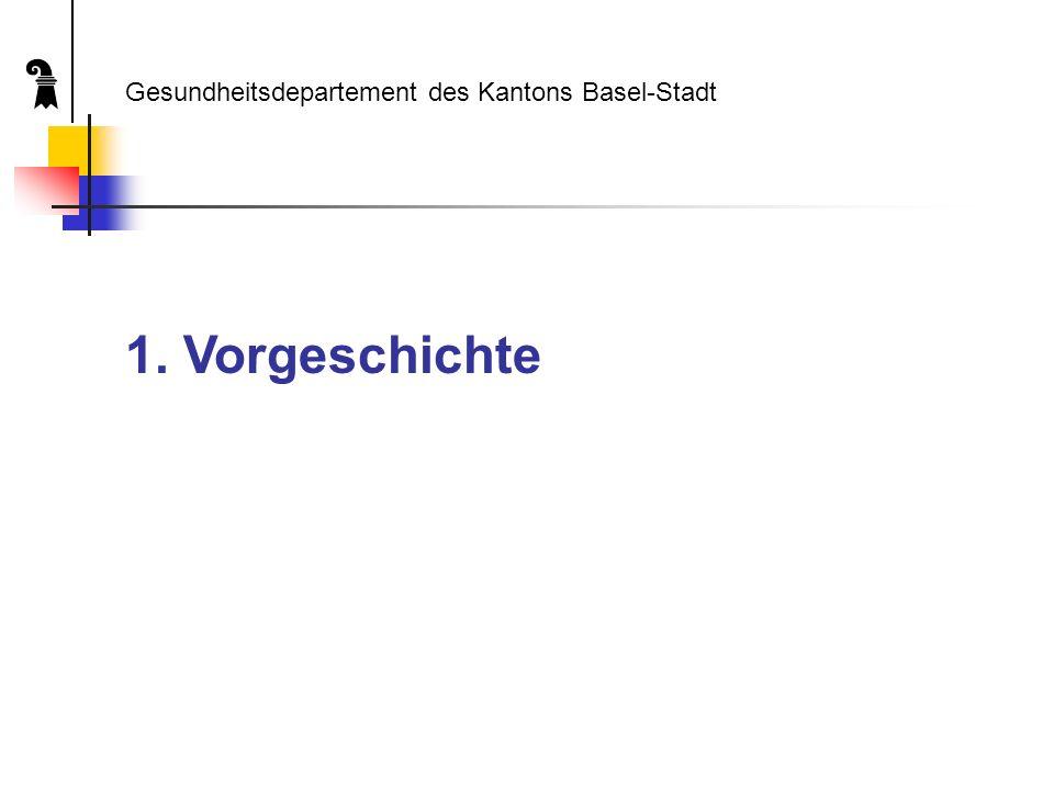 1. Vorgeschichte Gesundheitsdepartement des Kantons Basel-Stadt