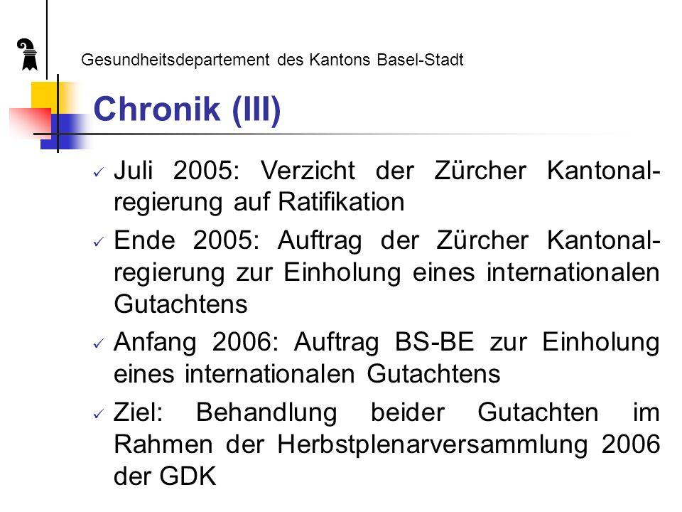 2. Kooperation BS-BE Gesundheitsdepartement des Kantons Basel-Stadt