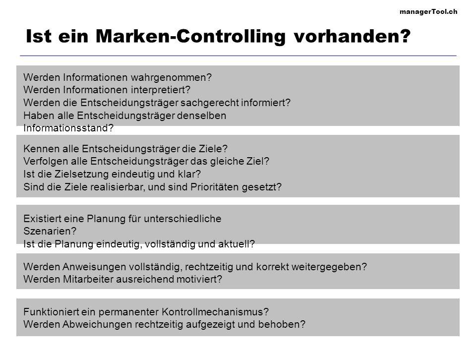 managerTool.ch Ist ein Marken-Controlling vorhanden? Werden Informationen wahrgenommen? Werden Informationen interpretiert? Werden die Entscheidungstr