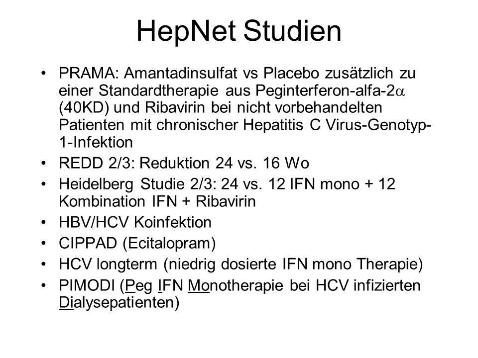 HepNet Studien PRAMA: Amantadinsulfat vs Placebo zusätzlich zu einer Standardtherapie aus Peginterferon-alfa-2 (40KD) und Ribavirin bei nicht vorbehan