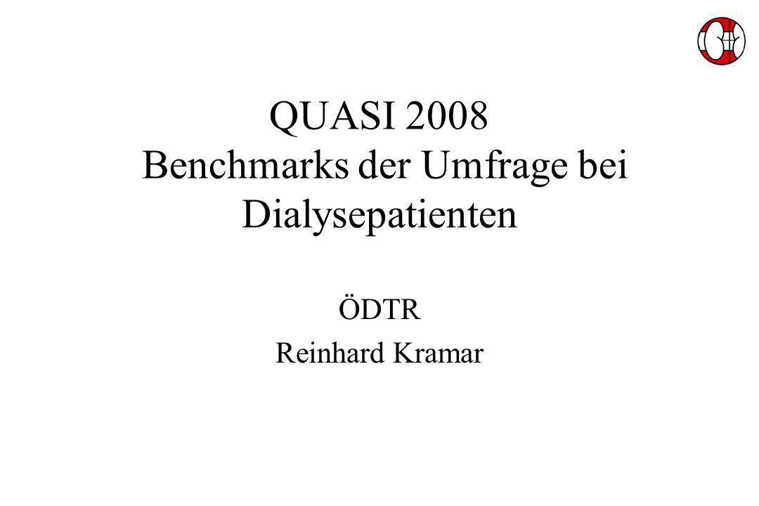 QUASI 2008 Benchmarks der Umfrage bei Dialysepatienten ÖDTR Reinhard Kramar