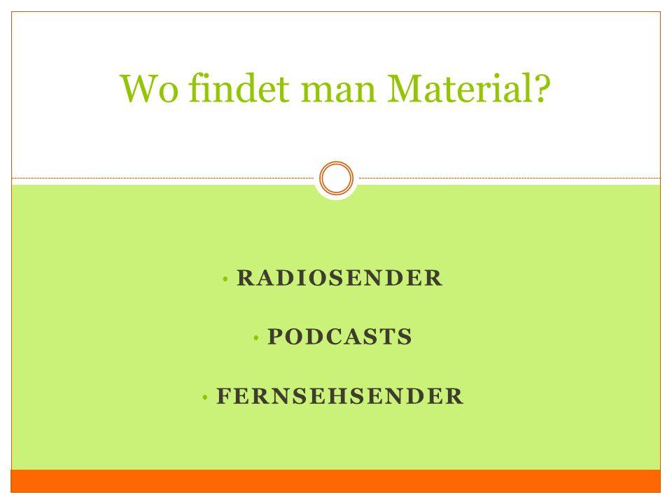 Radio ARDARD webseite Radio ARD RadioNet (Auswahl an bundesweiten Radiosendern) Links zu Podcasts in der ARD Mediathek (Radio live hören / Radio nachhören)