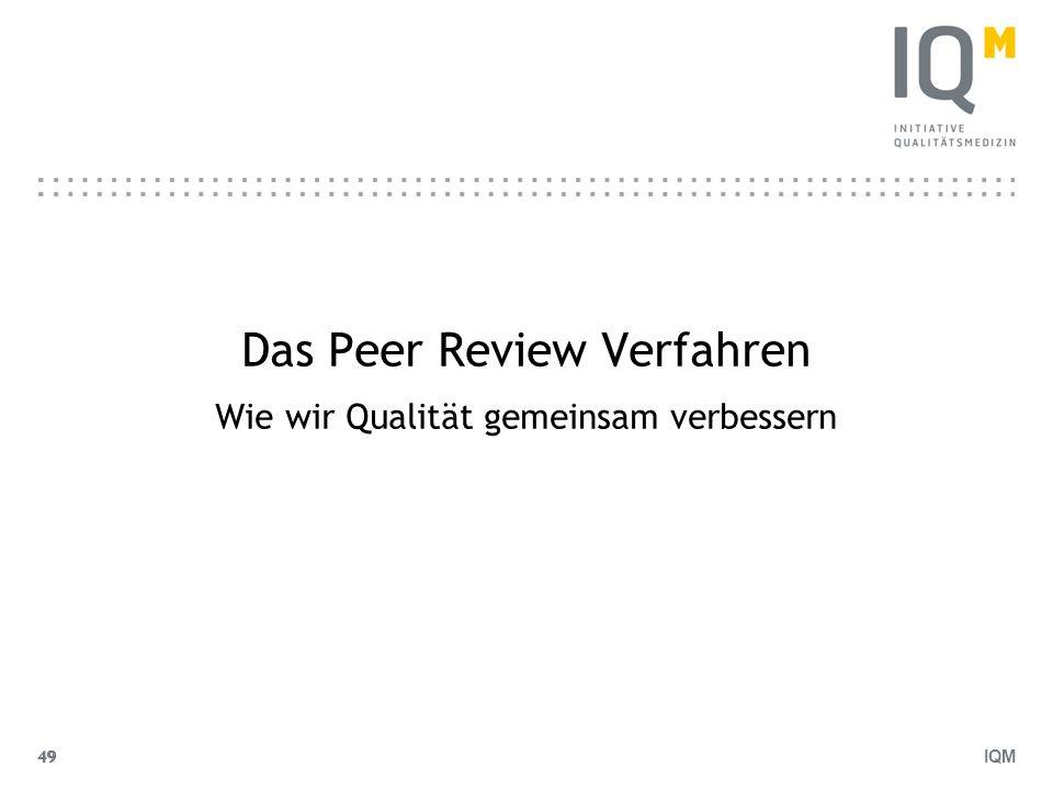 IQM 49 Das Peer Review Verfahren Wie wir Qualität gemeinsam verbessern