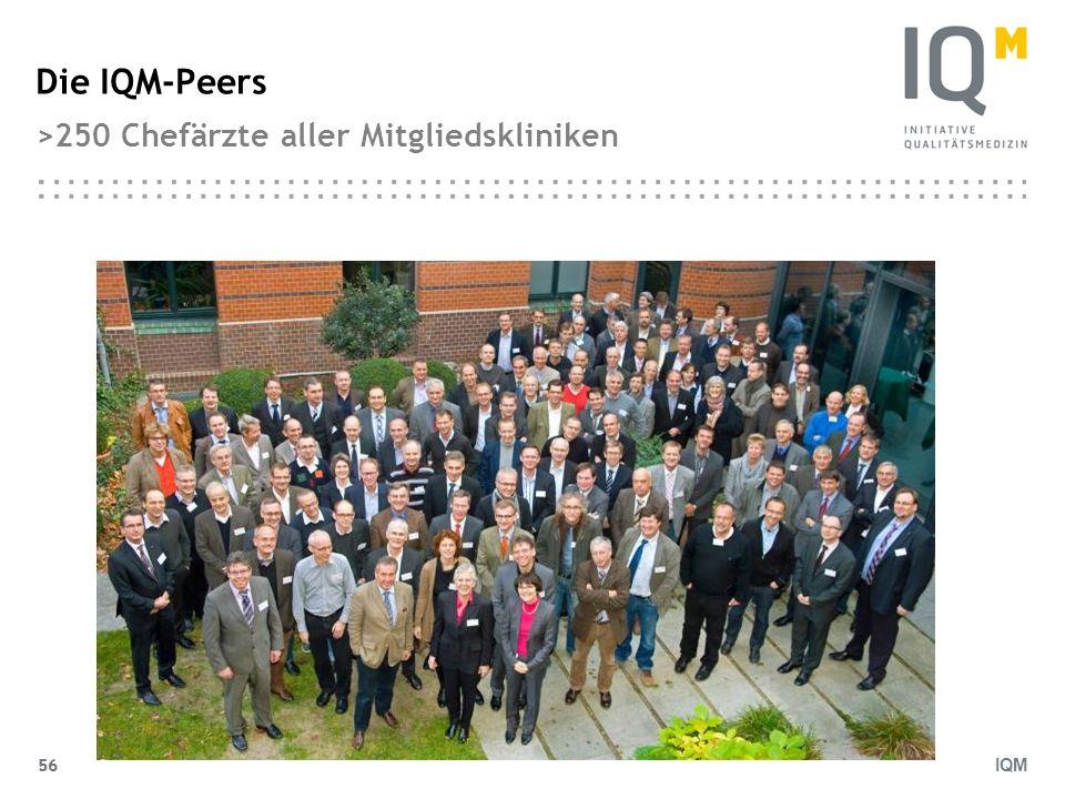 IQM 56 Die IQM-Peers >250 Chefärzte aller Mitgliedskliniken