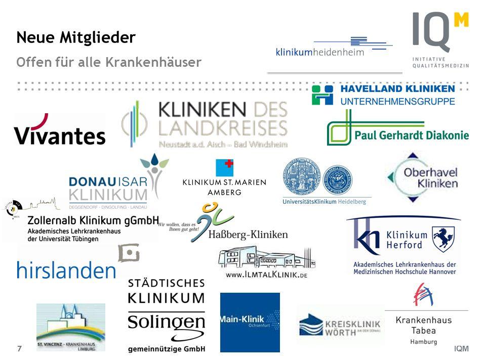 IQM 7 Neue Mitglieder Offen für alle Krankenhäuser 7