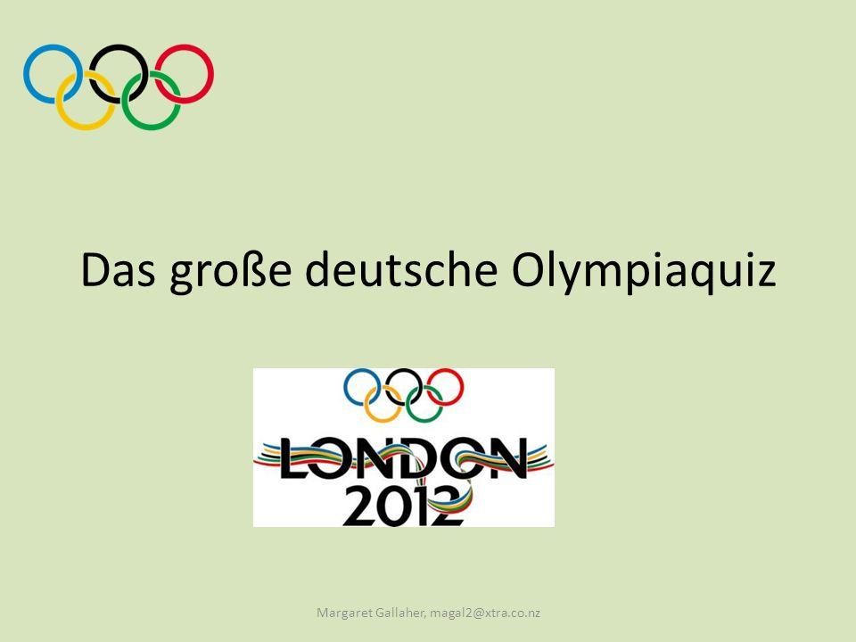Was ist auf der Olympischen Fahne zu sehen.a. Fünf verschiedenfarbige Ringe b.