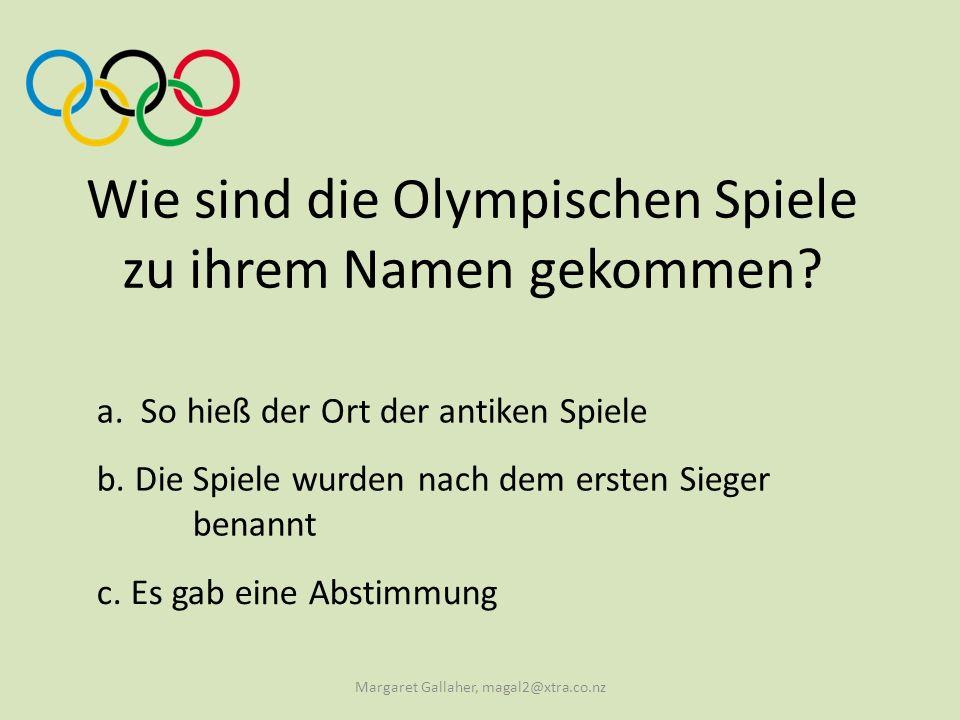 Wie sind die Olympischen Spiele zu ihrem Namen gekommen.