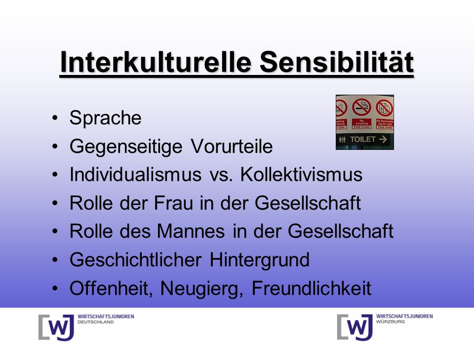 Interkulturelle Sensibilität Sprache Gegenseitige Vorurteile Individualismus vs.