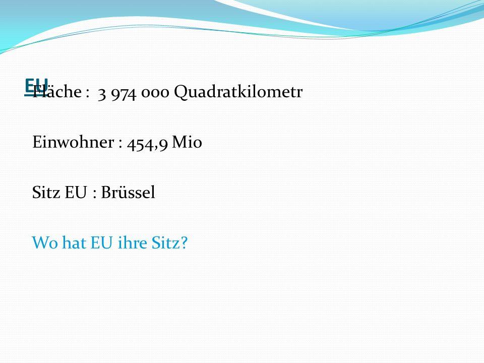 Sprachen EU Amtssprache: Englisch, Französisch, Deutsch Europäischer Union Amtssprachen sind Spanische, Portugalische, Französische, Englisch, Irlandische, Flemische, Luxemburgische, Deutsch, Dänische, Schwedische, Finnische, Estlandische, Lettlandische, Letauenische, Polnische, Tschechische, Slowakische, Ungarnische, Slowenienische, Italienisch, Maltese Sprache und Griechenlandisch.