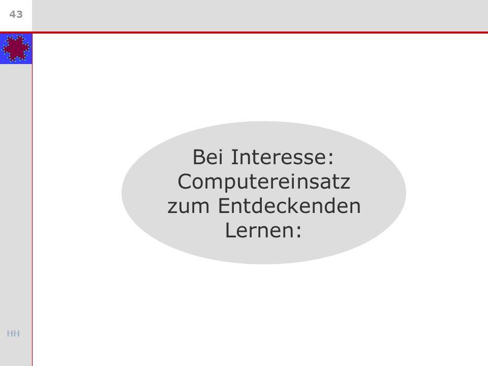 HH 43 Bei Interesse: Computereinsatz zum Entdeckenden Lernen: