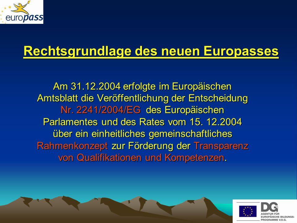 Häufig gestellte Fragen 6.Ist der alte Europass Berufsbildung noch gültig.