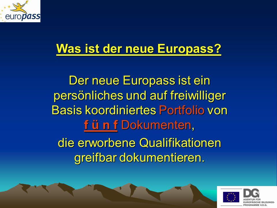 Nationale Europass-Zentralstelle Die eigene Nationale Europass-Zentralstelle (NEZ) der Deutschsprachigen Gemeinschaft: koordiniert und verwaltet, stellt Dokumente bereit, betreibt Öffentlichkeitsarbeit, erteilt Beratungen, beteiligt sich am europäischen NEZ-Netzwerk
