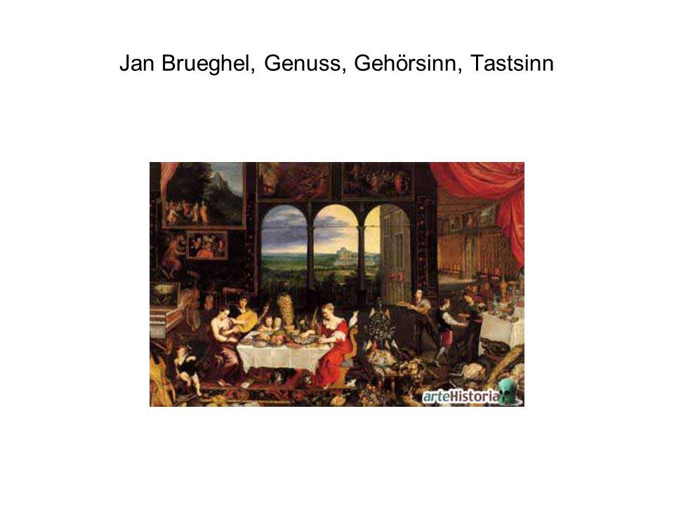 Jan Brueghel, Genuss, Gehörsinn, Tastsinn