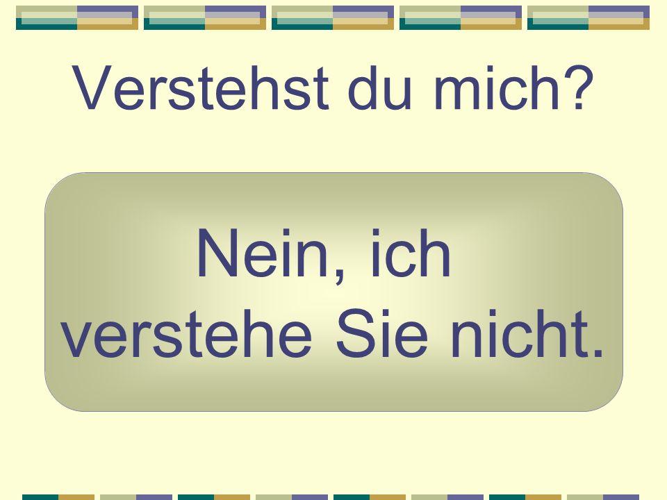 Sprichst du schon deutsch? Ja, ich spreche ein bißchen deutsch.
