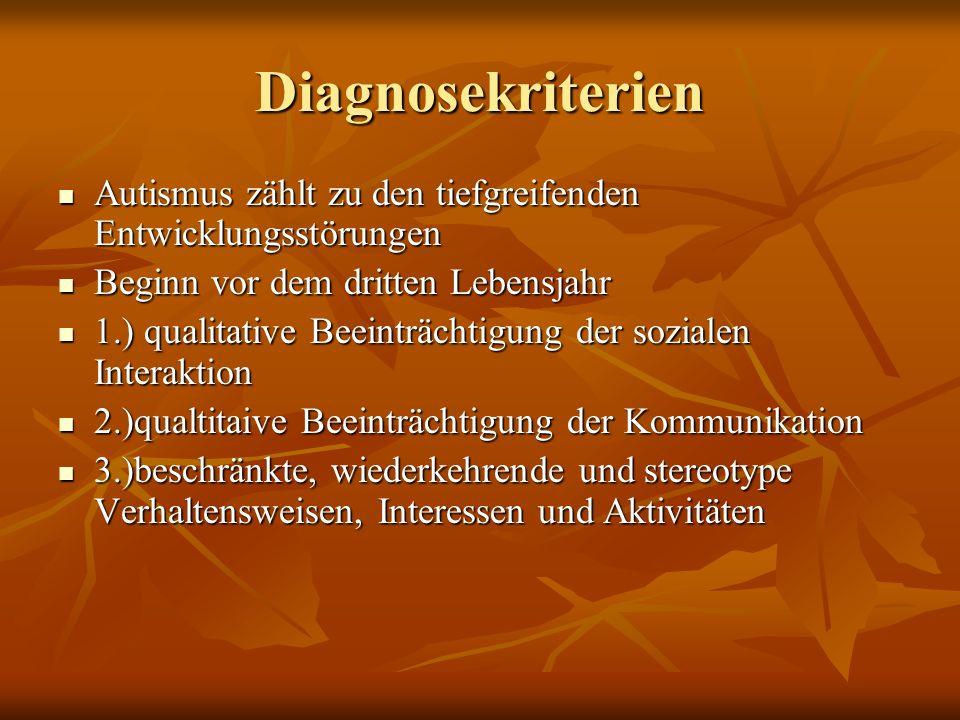 Störungen aus dem Formenkreis Autismus (ASS) Frühkindlicher Autismus (F 84.0) Frühkindlicher Autismus (F 84.0) (high-functioning Autismus) (high-functioning Autismus) Asperger Autismus (F 84.5) Asperger Autismus (F 84.5) Atypischer Autismus (F 84.1) Atypischer Autismus (F 84.1)